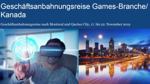 """Mehr über """"Geschäftsanbahnungreisen Gamesbranche 2019"""" lesen"""